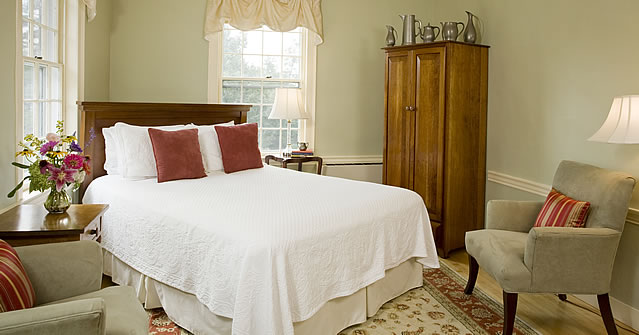 A room at the Swift House Inn in Middlebury, VT.