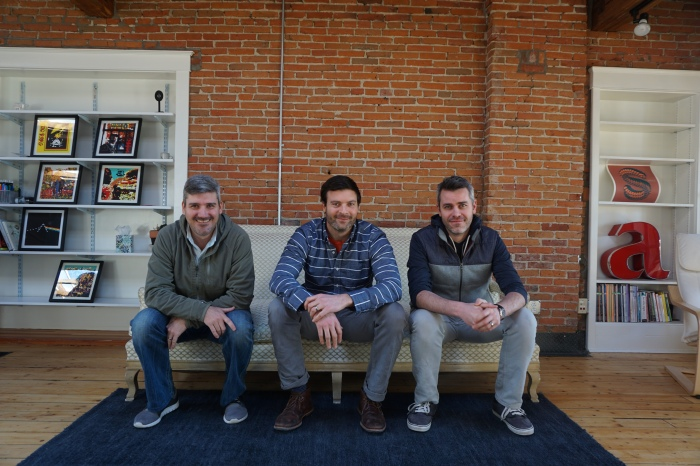 From left: Mike DeCecco, Jackson Latka and Jory Raphael, part of the leadership team at Parent Co and Notabli (photo provided).